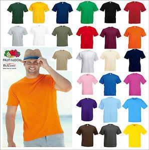 T-Shirt-Uomo-Donna-unisex-Fruit-Of-The-Loom-Maglietta-manica-corta-Cotone