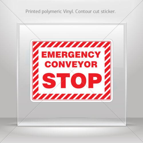 Sticker Decals Emergency Conveyor Stop Motorbike Bike Garage st5 X8528