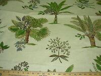~2 6/8 YDS~ROBERT ALLEN~ PALM TREES~COTTON LINEN UPHOLSTERY FABRIC FOR LESS~