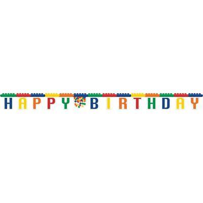 Bloc Fête Joyeux Anniversaire Décoration De Briques Lego Articulé