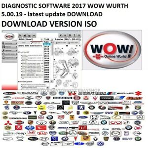 diagnostic software 2017 wow wurth latest update download read ebay. Black Bedroom Furniture Sets. Home Design Ideas