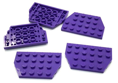 Lego 5 New Dark Purple Wedges Plate 4 x 6 Cut Corners Pieces