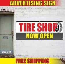 Tire Shop Advertising Banner Vinyl Mesh Decal Sign Wheel Balance Auto Now Open