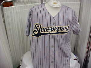 2008 Shreveport Sports #14 Bert Snow Game Worn/Used Home Gray Jersey Size XL