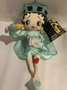 Kellytoy-Betty-Boop-Collection-Plush-Liberty-Doll-with-Tag-13-Patriotic-Decor