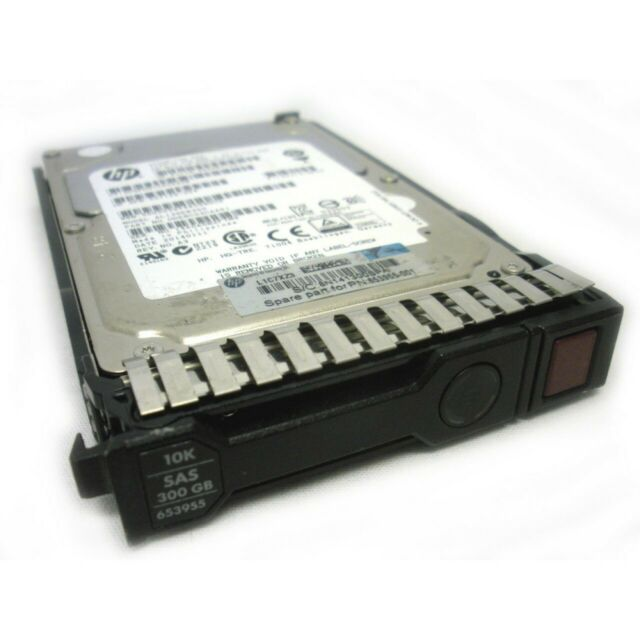 "HP 300gb 10k SAS DP SFF 2.5"" Hard Drive 599476-001 507129-004 653955-001 w/caddy"