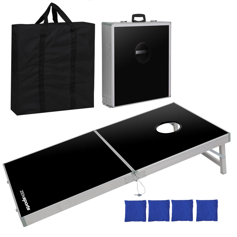 Foldable Bean Bag Toss Cornhole Game Set Aluminium Regulation Sports 4 x 2FT
