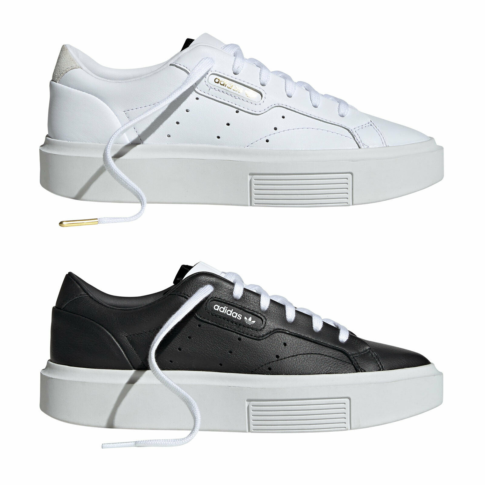 Damänner Sleek Originals Adidas Turnschuhe Super NEU Plateau