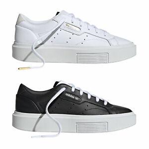 Adidas Original Sleek Super Damen Chaussures Baskets Semelle à Plateau Neuf