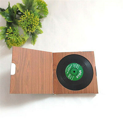 6PCS Useful Vinyl Coaster Groovy Record Cup Drinks Holder Mat Tableware Placemat