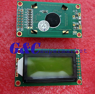 0802 8X2 characters LCD module Yellow backlight NEW  GOOD QUALITY LCD