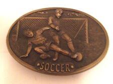 Soccer Solid Brass Belt Buckle by Bergamont Brass Works    TH