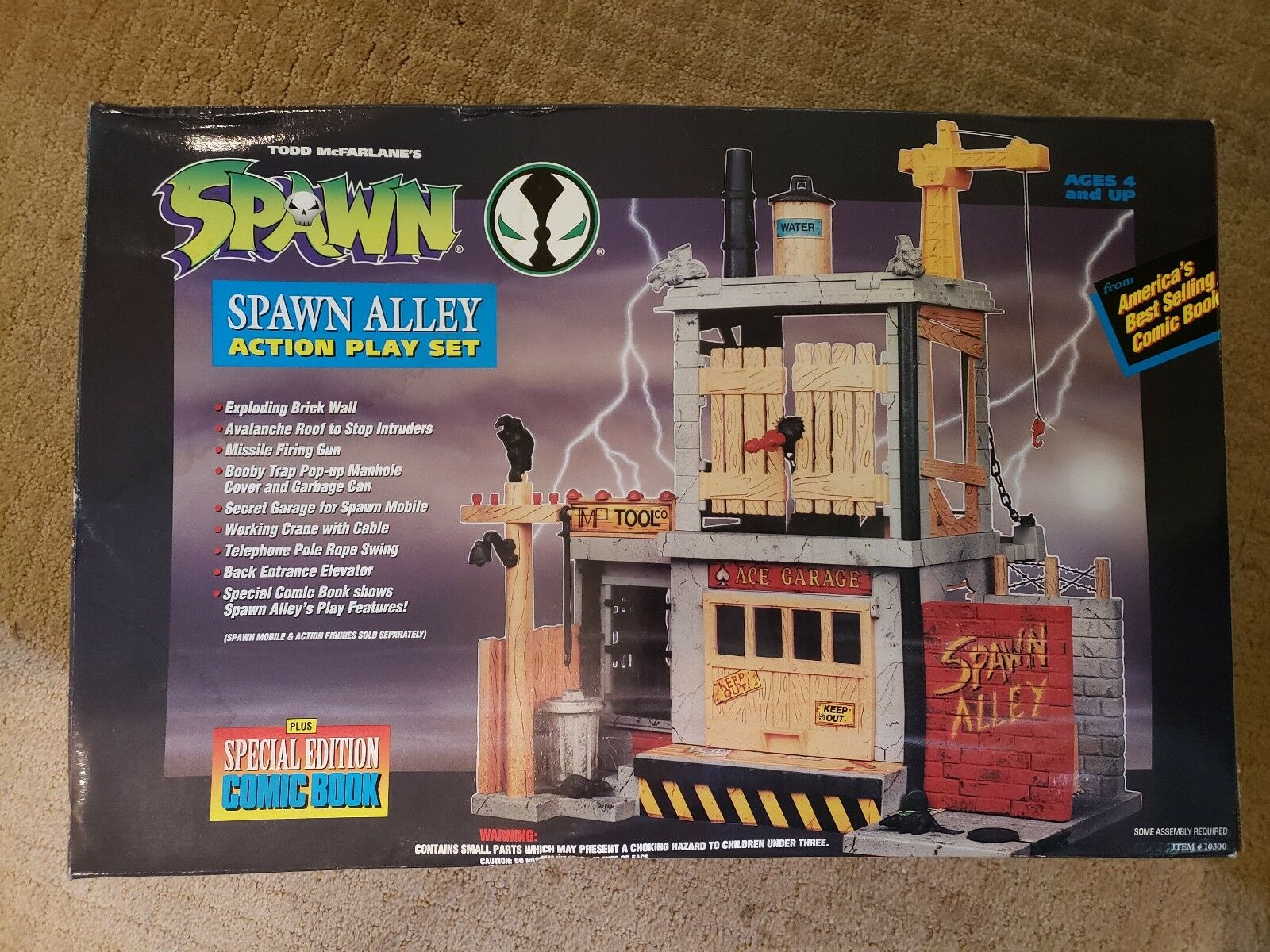 Spawn Alley Action Play Set - brand new - unopened box - Todd Toys
