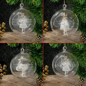 image is loading personalised engraved luxury glass christmas tree baubles message