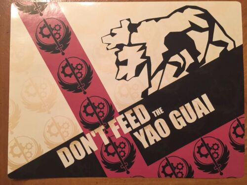 Tin Sign Vintage Fallout Don/'t Feed The Yao Guai