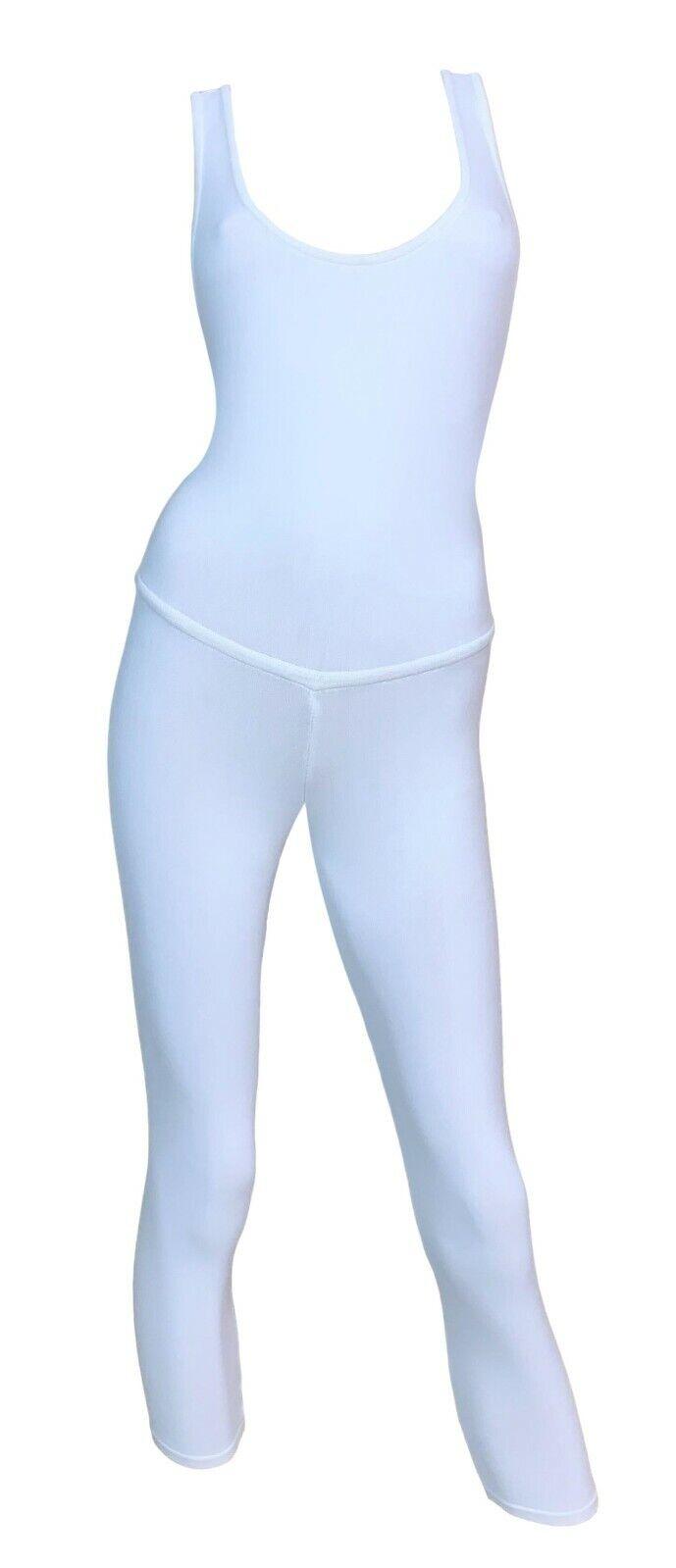 Vintage 1990's Dolce & Gabbana White Knit Bodycon… - image 1