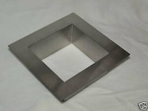 Square Trash Drop Ring Stainless Steel
