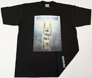 STREETWISE-RINSE-T-shirt-Urban-Streetwear-Tee-Adult-Men-L-4XL-Black-New