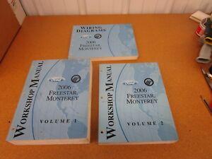 2005 Mercury Monterey /& Ford Freestar Service Shop Repair Manual Set W Wiring
