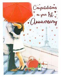 Anniversario Di Matrimonio Biglietti Auguri.1st Anniversario Di Matrimonio Biglietto D Auguri Busta