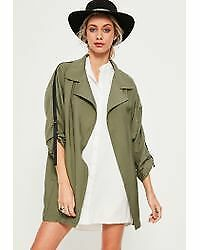 Sz Ny Coat Light Women's Militær Oversized Olivengrøn Waterfall 2 Missguided qWq8grS1