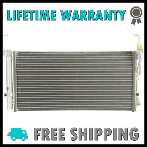 New Condenser For Hyundai Santa Fe 2001-2006 2.4 L4 2.7 3.5 V6 Lifetime Warranty