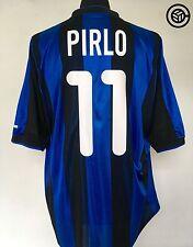 PIRLO #11 Inter Milan Nike Home Football Shirt Jersey 2000/01 (L) (XL)