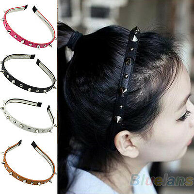 Fashion Headband Spike Rivets Studded Band Party Punk Hair Band Charming