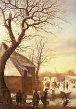 Avercamp Hendrick Winter Landscape 2 A4 Print