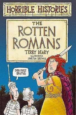 """""""AS NEW"""" Terry Deary, The Rotten Romans (Horrible Histories), Paperback Book"""