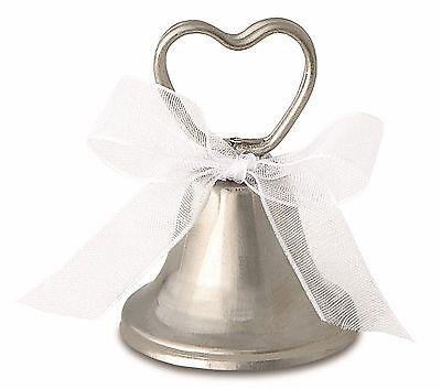 72 Wedding Favor Favour Place or Menu Card Holders Silver Ringing Bells