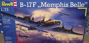 Revell-of-Germany-1-72-Revell-4279-B-17F-Memphis-Bell-Plastic-Model-kit-new