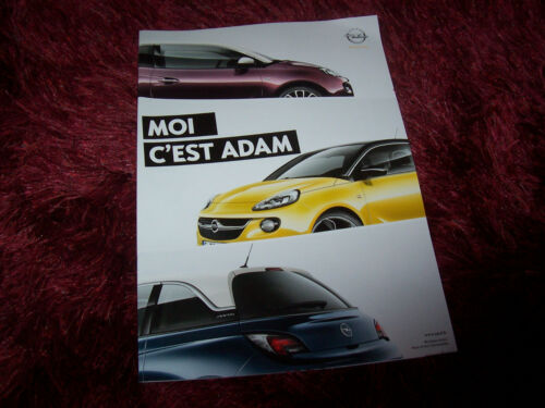 Brochure OPEL Adam 2012 //// Catalogue