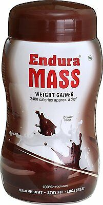 Endura Mass Weight Gainer 500g Chocolate Proteins Carbohydrates Minerals Vitamin