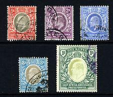 África Oriental & Uganda Ke VII 1903-07 definitivo grupo SG 2 a SG 26 VFU
