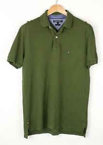 Tommy Hilfiger Herren 40's Zwei Ply Baumwolle Polohemd Hemd Größe L BCZ763