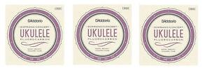 D'Addario Ukulele Strings 3-Pack Fluorcarbon EJ99SC Uke Soprano/Concert Pro-arte