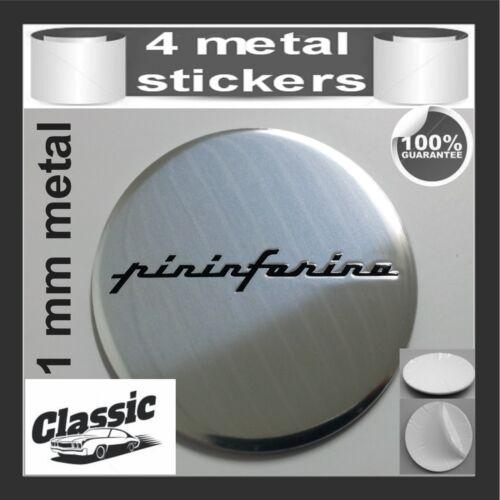 METAL STICKERS WHEELS CENTER CAPS Centro LLantas 4pcs Classic PININFARINA