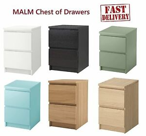 Exceptionnel Image Is Loading IKEA MALM CHEST OF 2 DRAWERS BEDROOM FURNITURE