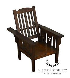 Excellent Details About Mission Oak Antique Childs Morris Chair Pabps2019 Chair Design Images Pabps2019Com
