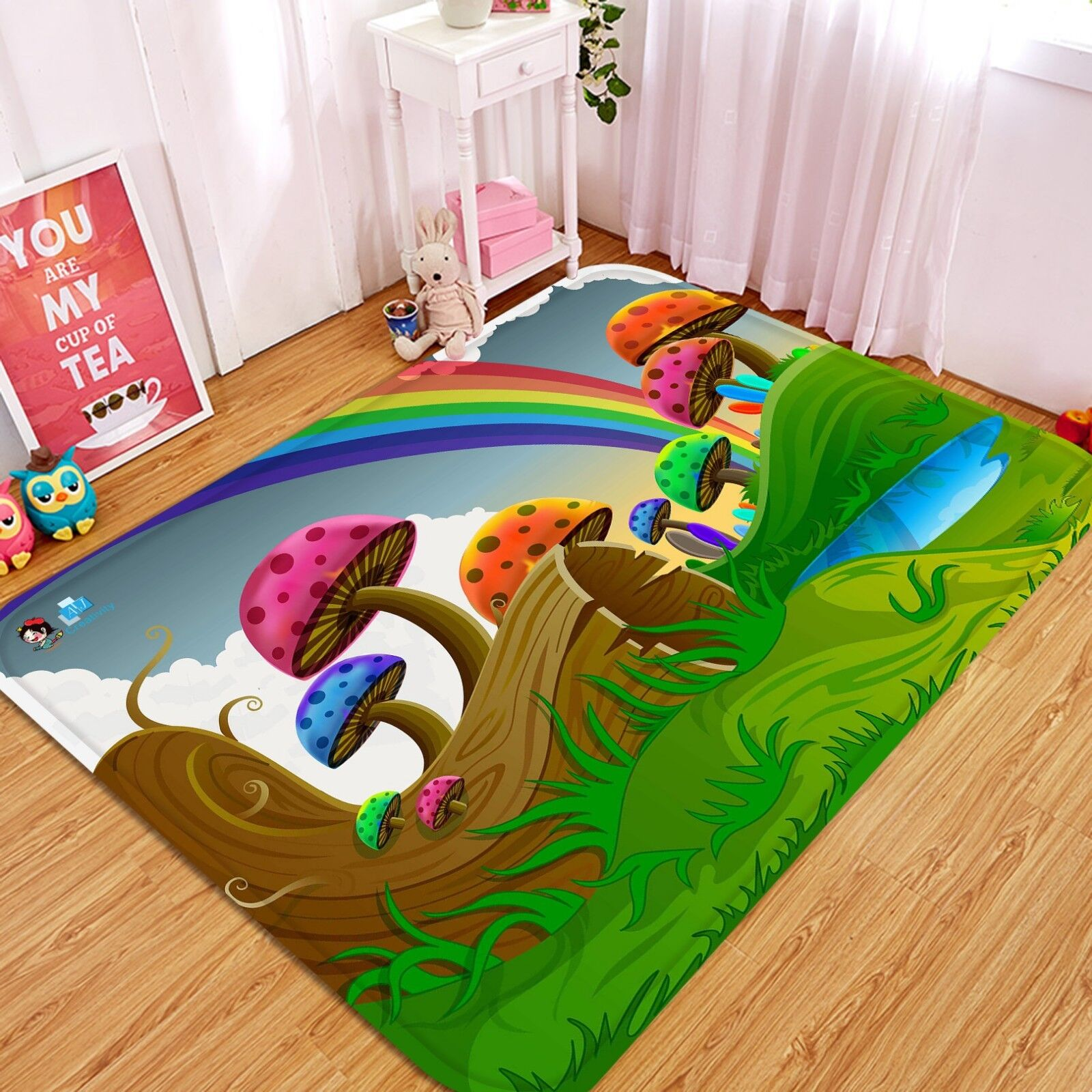 3D Arcobaleno 057 Pavimento Antiscivolo Tappeti Elegante Tappeto IT Cobb