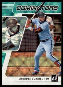 2021 Donruss Baseball Dominators Green #9 Lourdes Gurriel Toronto Blue Jays /25