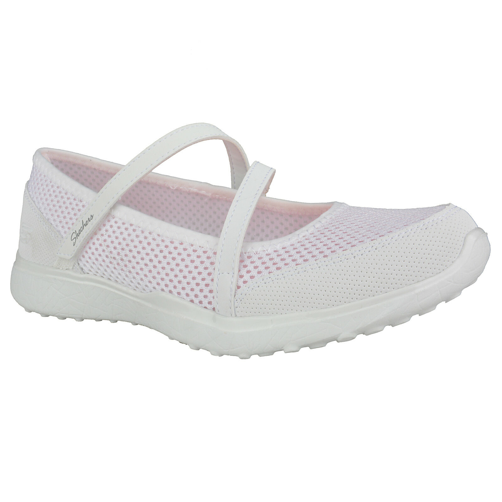 NEU NEU NEU SKECHERS Damen Ballerinas Sommerschuhe Slipper MICROBURST - IN THE OPEN Weiß 3ebafa