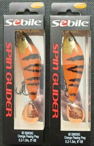 2x SEBILE SPIN GLIDER  95mm  38,3g  0.2-1.5 Blinker Wobbler Natural Perch