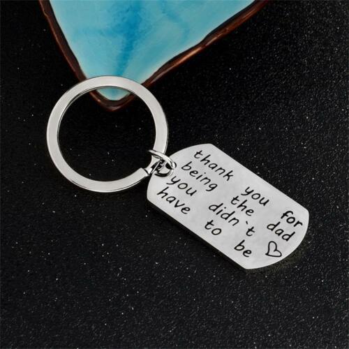 Gift Men Metal Fashion Letter Key Chains Dad Keyring Accessories Bag Pendant
