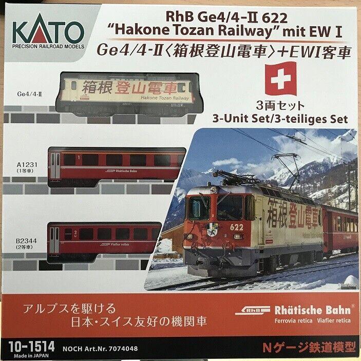 Aún 7074048 (10-1514 Kato) pista N-ge 4 4 II Hakone Lok + 2 H.E. I carro básico