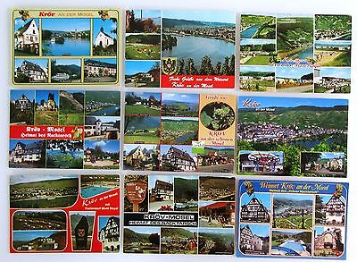 WunderschöNen 9 X Wein-dorf KrÖv A.d. Mosel Postkarten Lot Gebraucht Ak Gelaufen Frankiert