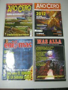 LOTE-4-REVISTAS-MAS-ALLA-ENIGMAS-ANO-CERO