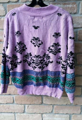 Rainbow Ridge Vintage Sweater Womens 80s 90s Pink