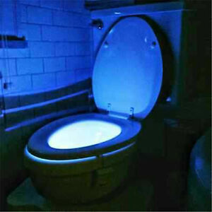 Motion Sensor Activated Led Toilet Light Bowl Bathroom Night Light